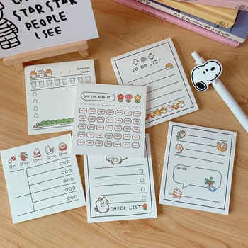 SIXONE 30 Sheets Creative Plan Sticky Notes Student Weekly Planner Stickers Memo Pad To Do List Kawaii Diary School Stationery