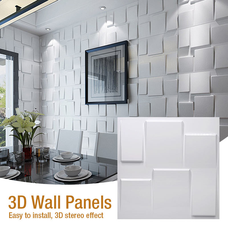 50x50cm 3D Art Wall Panel Convex 3D Dimensional Relief Wall Decor Board DIY Decoration Material Wall Stickers Shop Signs LOGO