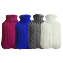 Large 2000ml Hot Water Bottle Hand Warmer Feet Warming Bag Explosion-proof With Knitted Removable Cover Winter Warn Water Pouch