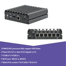 Atom E3845 J1900 тонкий клиент мини ПК 6lan порт брандмауэр nano PC