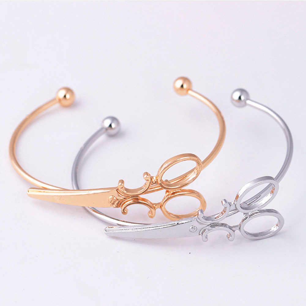 2020 New Fashion Bracelet Design creative Cuff Bracelet Scissors Adjustable Bangles Bracelets For Women Gift Jewelry pulseras