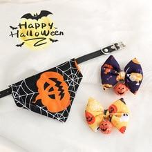 Cat-Collar Pet-Bandanas Bell Bowtie Puppy Breakaway Kitty Adjustable Halloween Safety