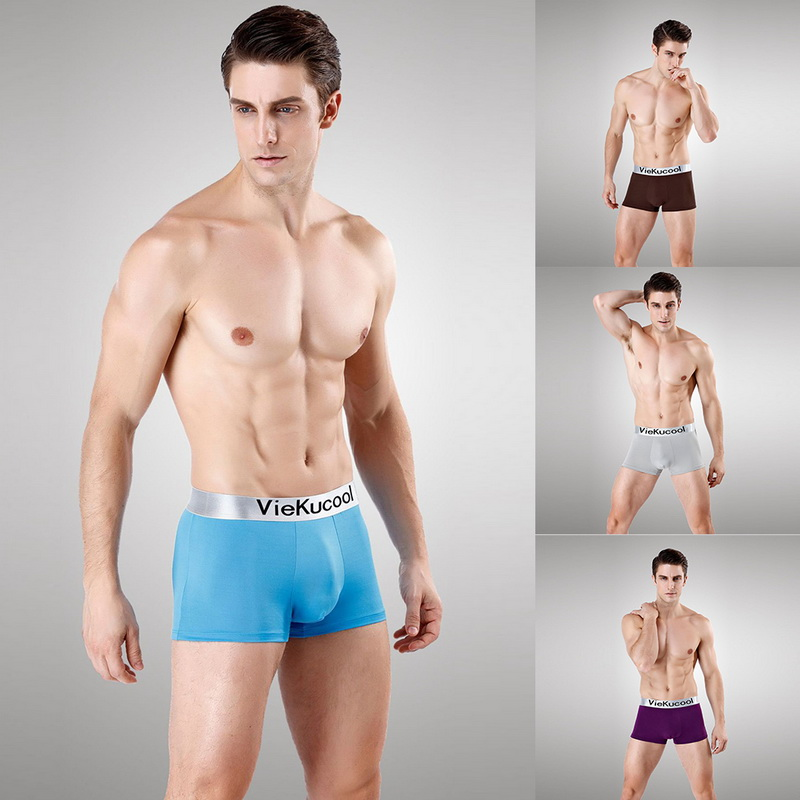 2019 Men's Sexy Soft Comfy Casual Boxers Breathable Microfiber Underwear Cool Boxershorts Solid High Elastic Seamless Underpants