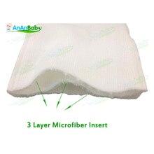 5шт/лот пеленки младенца вставить многоразовые абсорбент 3 слоя микрофибры детские ткань пеленки вставки размер 35см*14см
