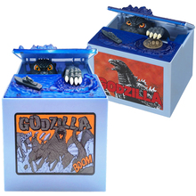 New Orignal Gojira Anime Godzilla Steal Coin Boxes Automated Piggy Bank Manage Money Cash Box Home Decor Kids Toys Boys Gift