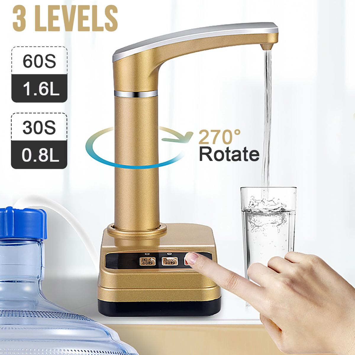 220V Electric Automatic Water Dispensers Electric Pumping Bottled Water Pure Water-Absorbing Manual Water Pump