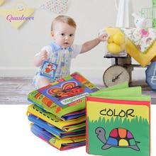 Quaslover רך תינוק בני בנות צעצועים רך בד ספר ילדים מוקדם חינוכי תינוקות ספרים חינוכיים יילוד עריסה קוגניציה