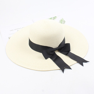 Image 3 - USPOP 2020 ผู้หญิงฟางหมวกหมวกหญิงกว้างBrimหมวกชายหาดหมวกฤดูร้อนป้องกันUv Straw Sunหมวก