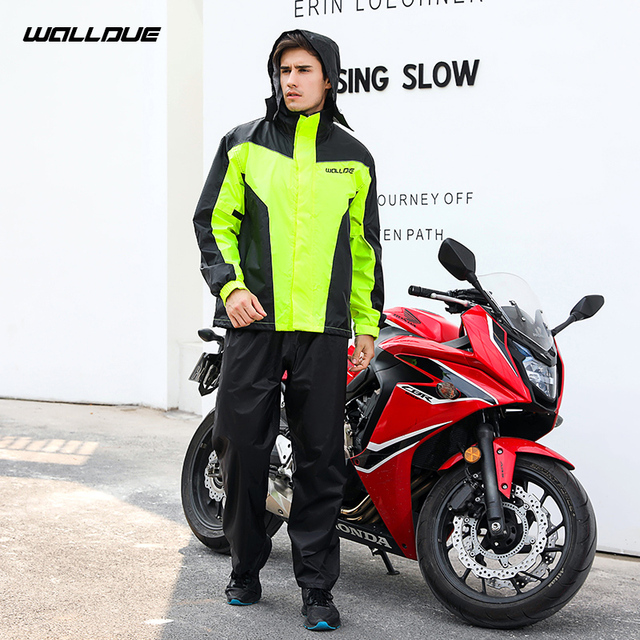 Ultra-Thin Motorcycle Raincoat Rain Pants Suit Set Adults Rain Coats Men Waterproof Jacket Trench Coat Mens Sports Suits Gift 5