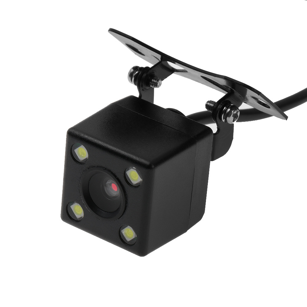 Factory Direct Selling Universal Adjustable Plug-in With 4LED Lamp Reversing High-definition Night Vision CCD Car Rear View Came