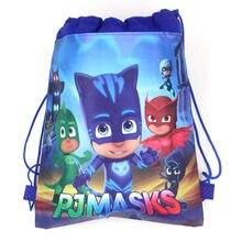 Masques Pj originaux avec cordon de serrage, sac cadeau en tissu Non tissé, sacs Catboy Anmie, jouets pour enfants, fournitures de fête d'anniversaire