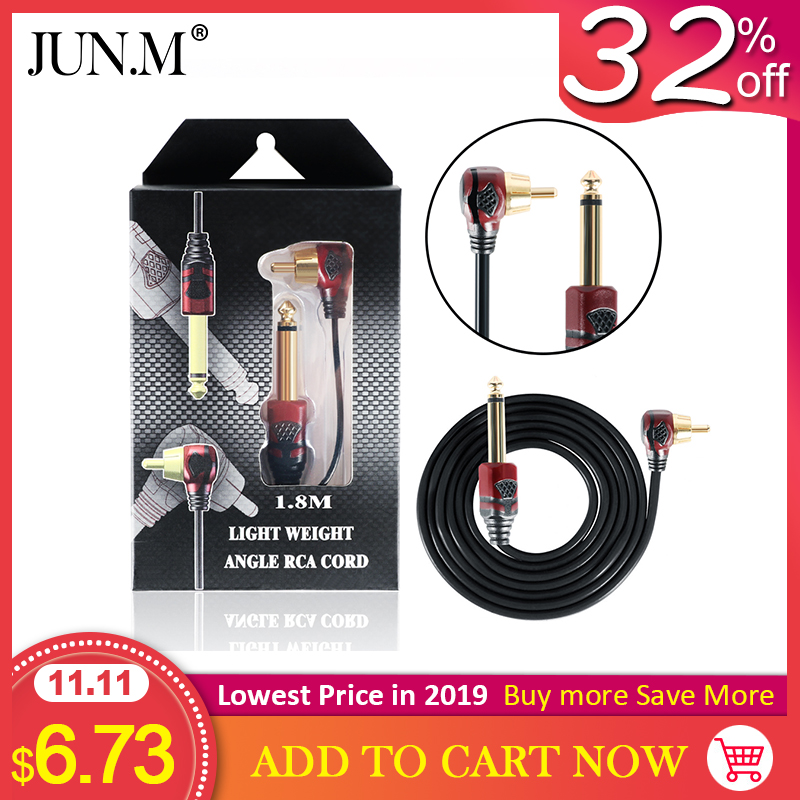 1.8 Meters Thick Tattoo Tattoo Clip Line Tattoo Hook Line Silicone RCA Plug Tattoo Machine Power Cord Accessories
