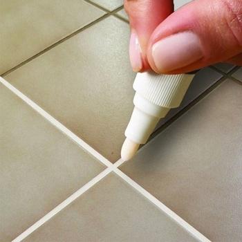 2021 naprawa markera do płytek ściennych biały Marker do fugowania bezwonny nietoksyczny do płytki podłogowe i opony nadaje się do malowania samochodu długopis tanie i dobre opinie CN (pochodzenie) Narzędzia specjalne Ekologiczne tile stitches maker pen GMJJ1972 Car paint pen Painting Pens Car Wash Maintenance