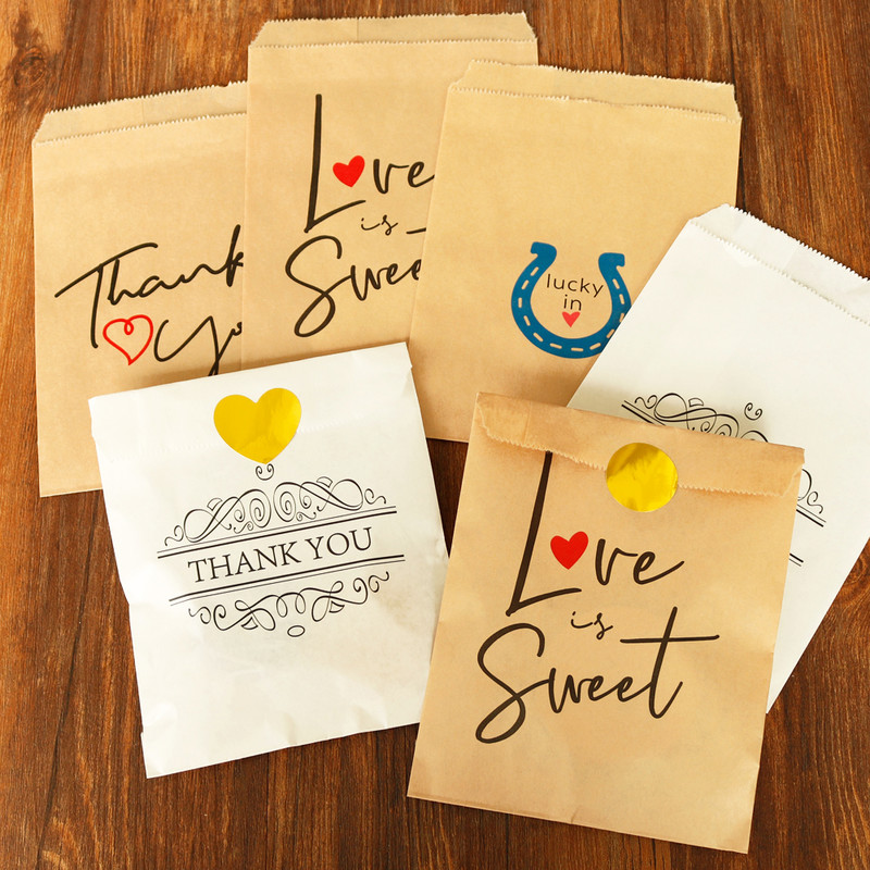 25pcs Retro Thank You Kraft Paper Envelope Cute White Dots Wedding Party Invitation Gift Envelope Stationery Envelope 13x18cm