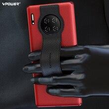 עור עסקי Vpower עבור Huawei Mate 30 פרו מקרה אמיתי עור טלפון תיק עבור Huawei Mate 30 מקרה מחזיק stand כיסוי