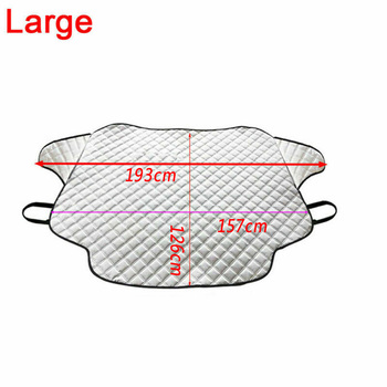 M/L Car Truck Windshield Snow Cover Magnetic Winter Ice Frost Guard Sun Shade Silver Windshield Protector Snow Cover Snow Fr 2