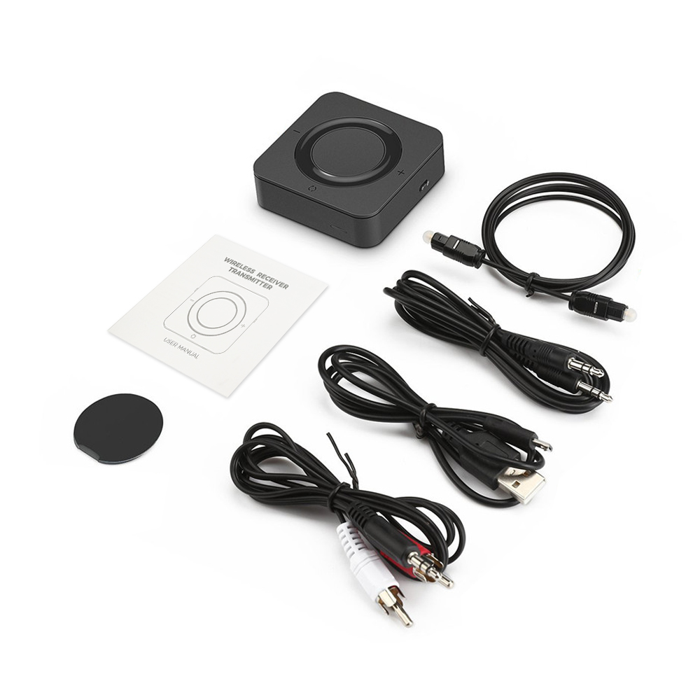 Hot New 2-in-1 Wireless Transmitter Receiver Music Audio Adapter BT 5.0 With AptX Low Latency 3.5mm Aux Jack