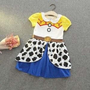Image 5 - Baby Meisje Cartoon Jurk Sneeuwwitje Prinses Sofia Cosplay Jurk Voor Meisje Baby Kleding E5099