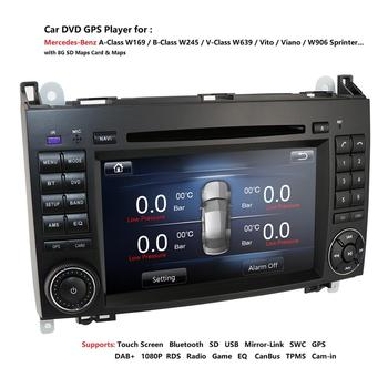 2 din Auto radio Car DVD multimedia for Mercedes Benz B200 A B Class W169 W245 Viano Vito W639 Sprinter W906 GPS Navigation USB image