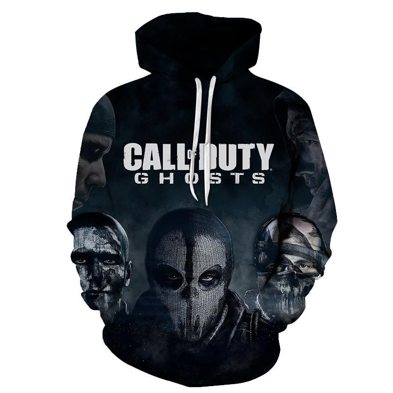 Call Duty Ghosts Men's Hooded Casual Sweatshirt Fly shooting game Streetwear Fashion Long hoodies Tops Sale Tracksuits Mens Wear
