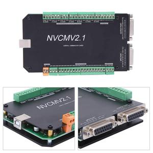 Image 4 - NVCM 5 Axle CNC Controller MACH3 USB Interface Board Card for Stepper Motor High Quality