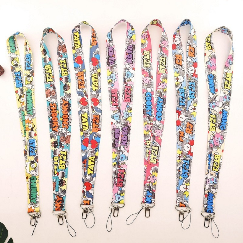 Kpop Bangtan Boys Keychain Lanyard Figure Cell Phone Rope Strap Clip For Women Men Fashion Fans Bangtan Jewelry Accessories