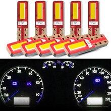 Kebidumei 10 pces t5 luzes led t10 2smd led canbus interior do carro luzes painel indicador de aquecimento cunha instrumento automático lâmpada 12v
