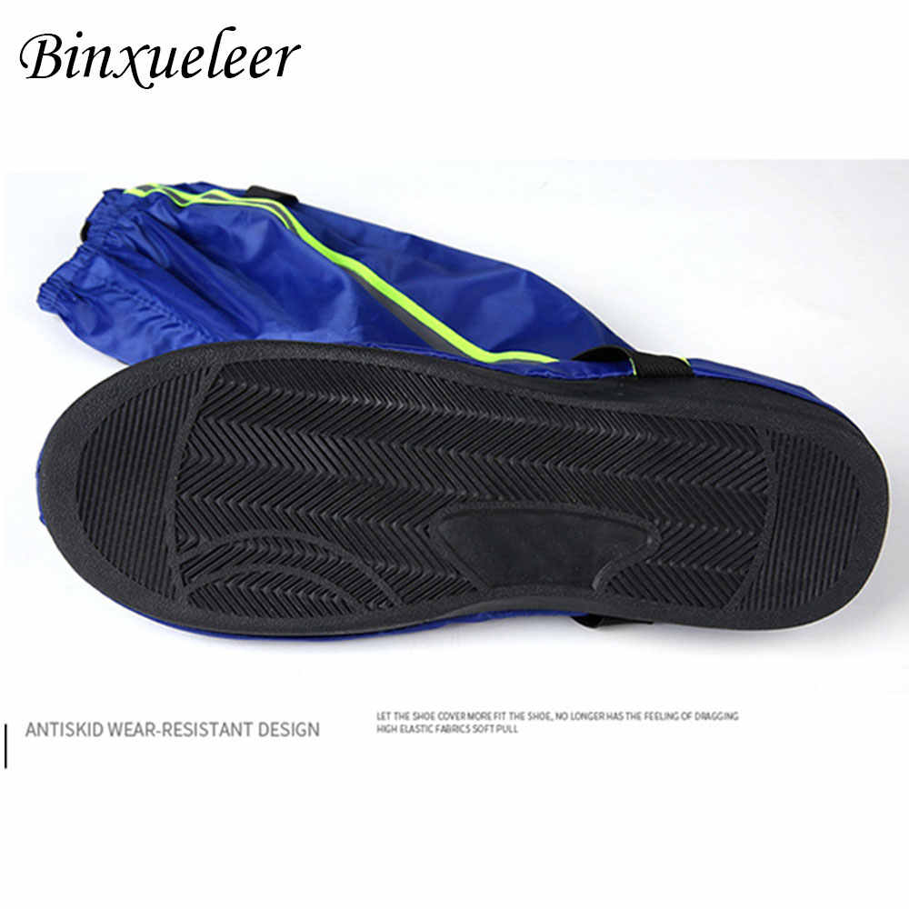Unisex Fluorescent Hujan Sepatu Cover Sepatu Dapat Digunakan Kembali Cover Hujan untuk Sepatu Tahan Air Motor Hujan Sepatu Cover Non Slip Boots