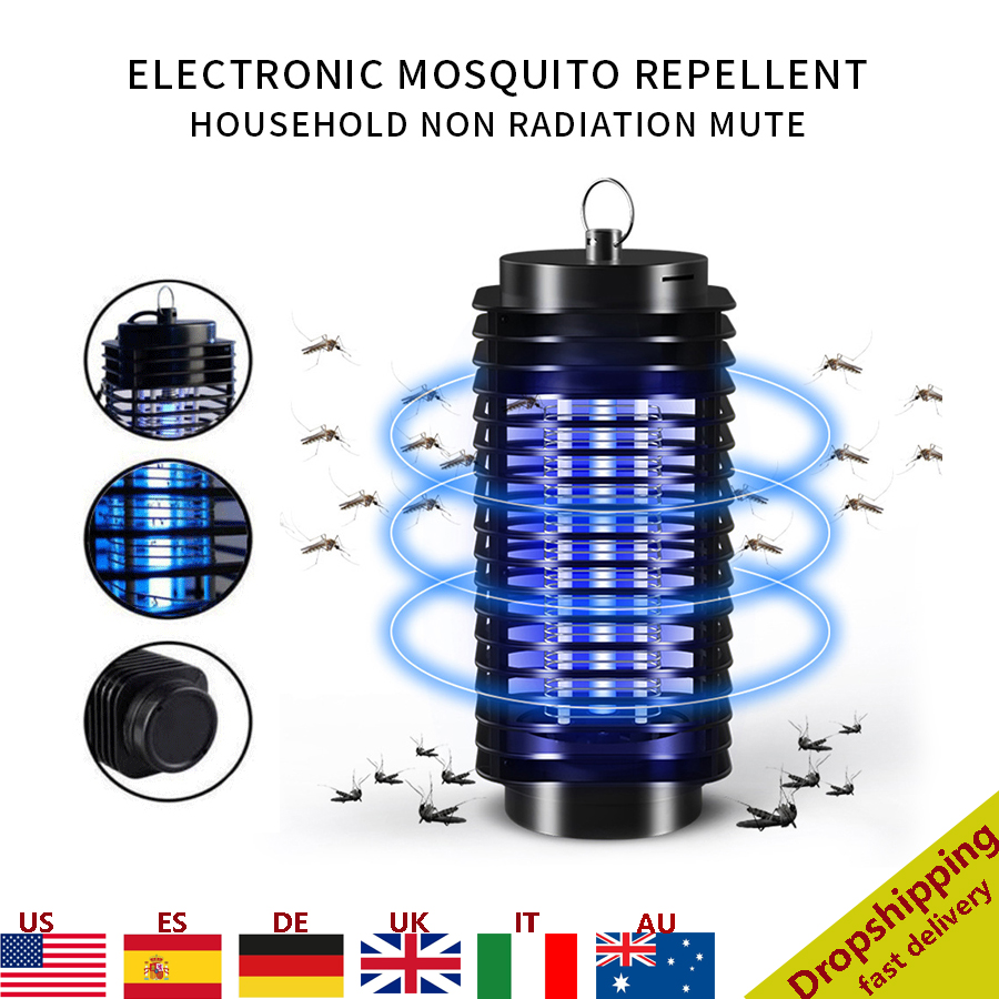 Portable Electric Mosquito Lamp Insect Killer Lamp Outdoor Camping Fly Bug Repellent Anti Mosquito UV Night Light EU US Plug