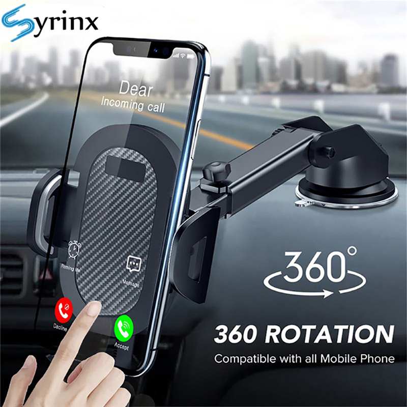2020 Sucker Car Phone Holder 360 Mount in Car Stand No Magnetic Support Mobile Cell Cellphone Smartphone For iPhone X Max Xiaomi(China)