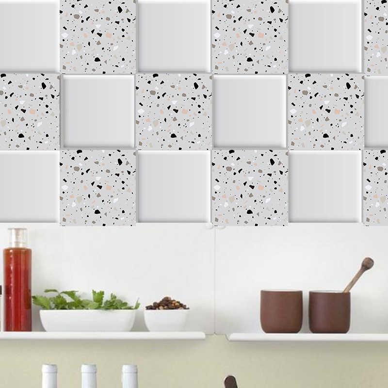 carrelage mural en mosaique de marbre blanc et gris autocollant mural auto adhesif pour cuisine salle de bain maison