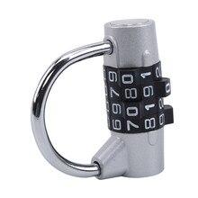 Resistente 4 dial dígitos combinação bloqueio cadeado de segurança à prova de intempéries ginásio ao ar livre bloqueio código segurança preto