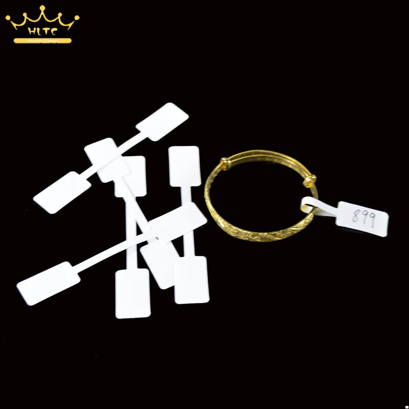 50pcs Ring Jewelry Self-Sticky Retail Jewellery Price Label Display Tags Sticker Free Shipping 10*1.6cm
