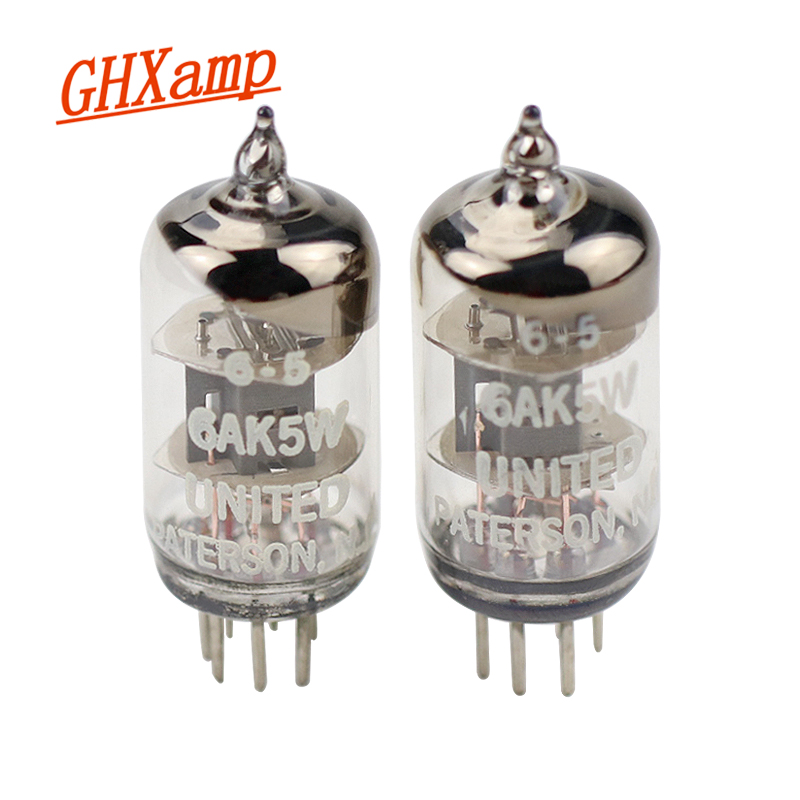GHXAMP 6AK5 Electron Tube Amplifier Replace 5654 /403A /403B /EF95 /6J1 /6N1 Ues 6AK5 Vacuum Tube Improve Audio Sound 2pcs