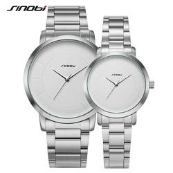 Sinobi Golden Women Fashion Watches Original Design Woman Quartz Wristwatch Ladies Clock Steel Geneva Relogio Couple Watch Gift