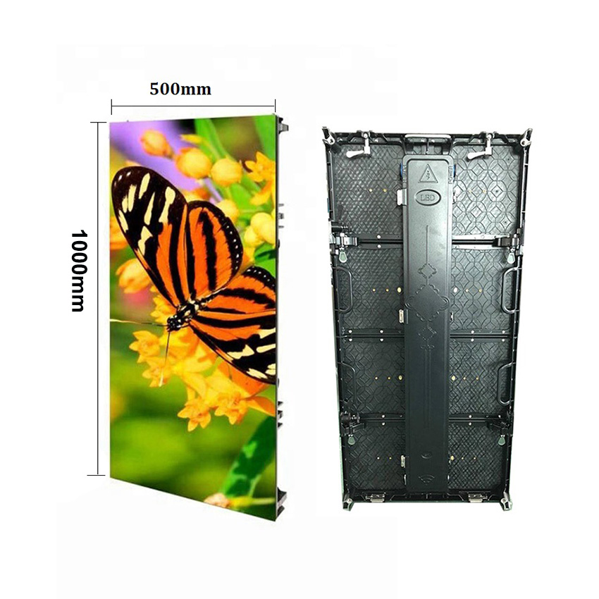 <font><b>Digital</b></font> P3.91mm full color SMD1921 500*1000mm outdoor rental cabinet LED display led panel advertising <font><b>billboard</b></font> screen image