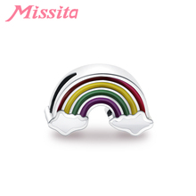 MISSITA Romantic Rainbow Charms fit Pandora Bracelets & Necklaces for Jewelry making Ladies Accessories