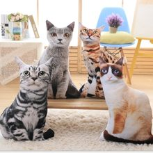 50cm 75cm Kawaii Pillow Cat Pillow Cushion Christmas Valentine S for Kids Girls Plush Doll Toys(China)