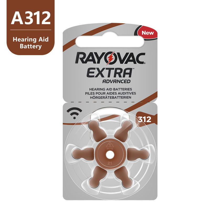 Image 2 - New 60 pcs/10card Rayovac Extra 1.45V Performance Hearing Aid Batteries. Zinc Air 312/A312/PR41 Battery for CIC Hearing aidsrayovac extrahearing aid batteriesbattery for hearing aids -