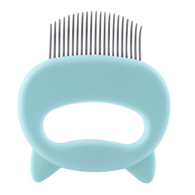 Pet Massage Brush Shell Shaped Handle Pet Grooming Massage Tool   3