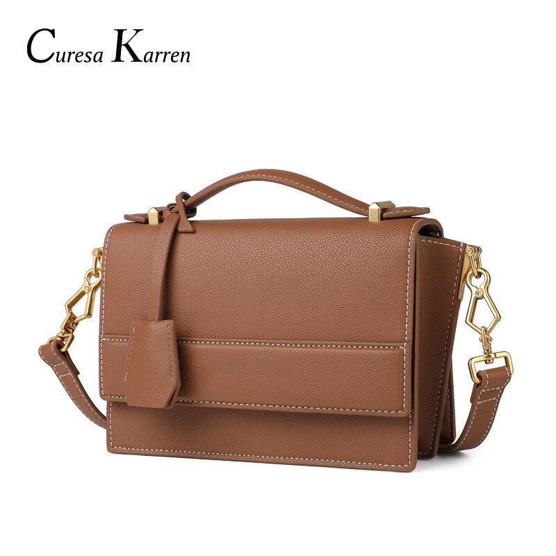 Mode femmes sac à main sacs de messager en cuir véritable sacs pour femmes dames téléphone sac à main mignon sac femmes chaîne sauvage livraison gratuite