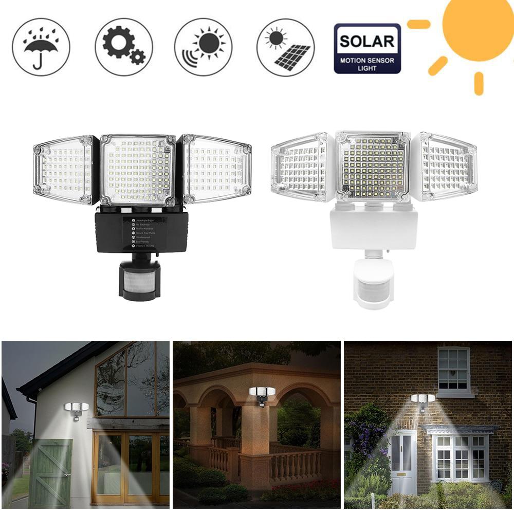 188 LED Solar Powered PIR Motion Sensor Light Outdoor Garden Security Flood Lamp