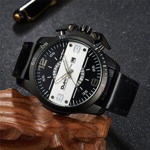 Image 4 - Oulm Yeni Tasarım erkek Saatler Lüks Marka Rahat Deri Kol Saati Büyük Boy Spor Erkek quartz saat relogio masculino