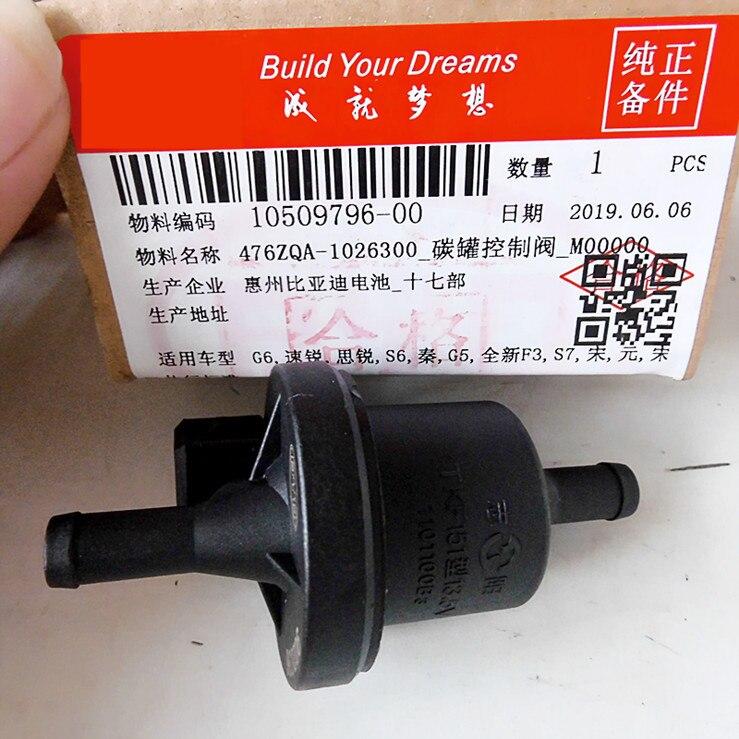 カーボンキャニスター電磁弁 byd G6 S6 G5 新 F3 S7 F5 スリ F6 siruiQin カーボンキャニスター制御バルブ 476ZQA-1026300 1.5T