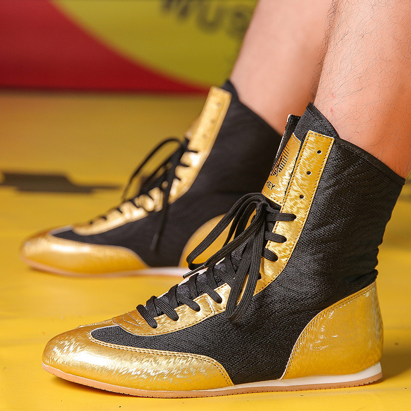 New Professional Wrestling Shoes Kids Light Weight Boxing Sneakers Comfortable Boxing Footwears Boys Luxury Flighting  Shoes