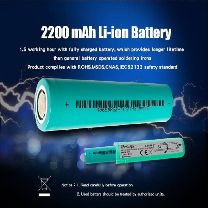 Ions 3.6v Iron Soldering Wireless Rechargeable Battery Li