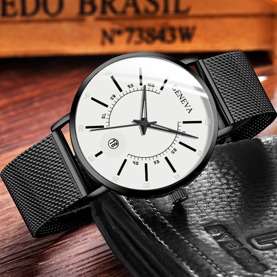 H38ea7c602b5d49c7856ba85f05dc4332y Relogio Masculino 2020 Fashion Mens Business Minimalist Watches Luxury Ultra Thin Stainless Steel Mesh Band Analog Quartz Watch