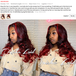 13х6 глубокая волна 99J цветные кружевные фронтальные человеческие волосы, черные женские волосы, глубокая часть, бордовые кружевные передние...