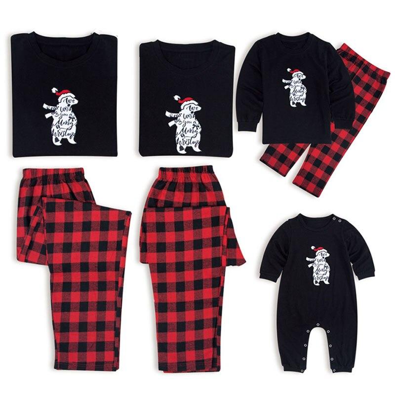 Family Matching Christmas Pajamas Set Xmas Women Man Baby Kids Sleepwear Nightwear Fashion New Year's Cute Pajamas Set