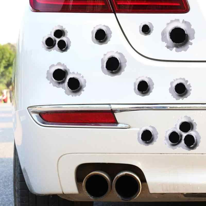 3D 車のステッカー弾痕オートバイスクラッチ現実的な防水と興味深いフルカバレッジ自動車スタイリング